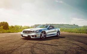 Picture Mercedes-Benz, Front, Sun, Silver, Class, Convertable