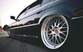 Picture asphalt, tuning, BMW, Boomer, BMW, wheel, drives, stance, 7 series, E38, 750il