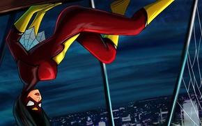Picture the city, costume, Marvel Comics, Spider-Woman, Jessica Drew