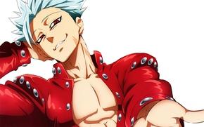 Picture art, guy, scar, art, admin stupid hamster, Nanatsu no Taizai, The seven deadly sins, Ban, …