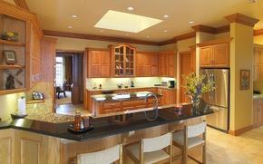 Picture design, style, room, Villa, interior, kitchen