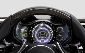 Picture leather, Lexus, Machine, the wheel, salon, hi-tech, dashboard