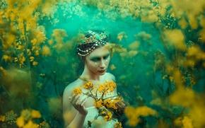 Picture girl, decoration, makeup, tears, Bella Kotak, A Midsummer's Dream