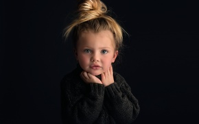 Picture portrait, girl, Meg Bitton