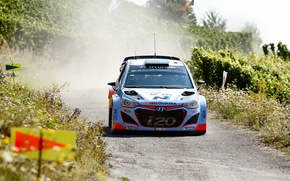 Picture Dust, Hyundai, WRC, Rally, The front, i20