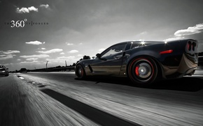 Picture auto, asphalt, speed, track, Z06, Corvette, Chevrolet, 360 three sixty forged