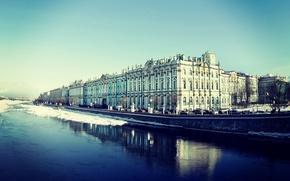 Picture river, Peter, Saint Petersburg, The Hermitage, Russia, Museum, Russia, promenade, SPb, Neva, St. Petersburg, spb