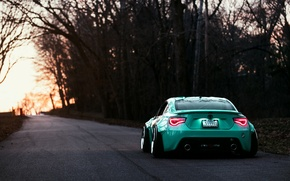 Picture Toyota, GT86, Stance, Rear, Turquoise, Works