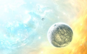 Picture stars, color, Planet