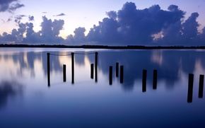 Picture clouds, lake, Posts