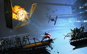 Picture explosions, ships, war, soldiers, the battle, star, space