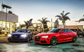 Picture blue, red, Audi, Audi rs5