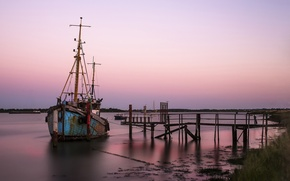 Picture sunset, Boat, Big Stopper, Heybridge Basin