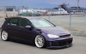 Picture volkswagen, wheels, Golf, golf, tuning, germany, low, r32, stance, vr6, mk7