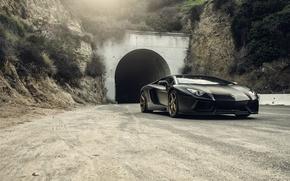 Picture Lamborghini, Front, Black, Tuning, LP700-4, Aventador, Mansory, Supercar, Wheels, RDB LA Matte, Savini