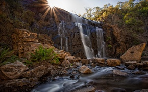 Picture landscape, waterfall, McKenzie's Case, Grampians National Park