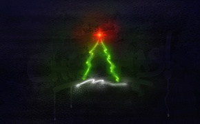 Picture holiday, tree, new year, logo, merry christmas