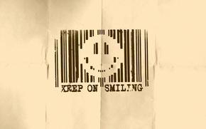Wallpaper smile, smile, barcode