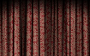 Wallpaper flowers, texture, the curtain, patterns, curtain, texture
