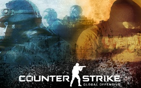 Picture War, Soldiers, The inscription, Weapons, Logo, Men, Counter Strike, Name, Shooter, Machines