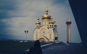 Picture Autumn, Area, People, Church, Khabarovsk, WVTM photo
