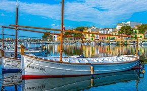 Picture boats, port, Spain, harbour, Spain, The Mediterranean sea, Mallorca, Mallorca, Majorca, Mallorca, Mediterranean Sea, Portocolom, …