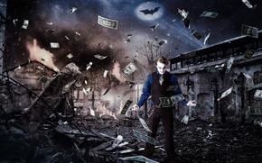Wallpaper Joker, money, background