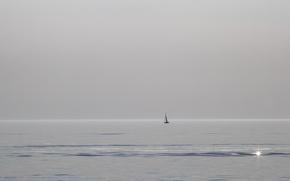 Picture Lake Michigan, South Haven, Sailing Solo
