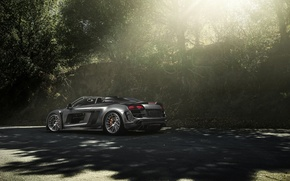 Picture Audi, Carbon, Black, California, Supercar, Chrome, Wheels, Razor, eGarage, PPI, Adv1, Fiber