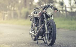 Picture yamaha, vintage, cafe racer, sr500