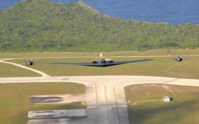 Wallpaper aviation, Wallpaper, fighters, bomber, the plane, b-2, invisible, the rise, military, strategic, northrop, runway, unobtrusive, ...