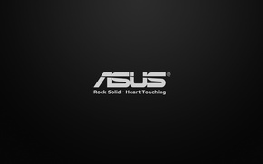Picture white, black, heart, Asus, touching, rock solid