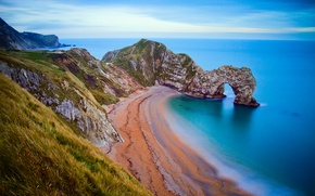 Picture shore, the sky, arch, rocks, beach