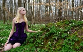 Picture Girl, Nature, Model, Beauty, Blonde, Outside, Maria Amanda Schaub