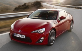 Picture road, red, sports car, Toyota, the front, Toyota, ГТ86, GT86