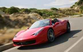 Picture red, Machine, Ferrari, Car, Car, F458