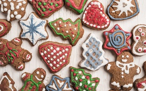 Picture cookies, Christmas, Christmas, cakes, cookies, baking