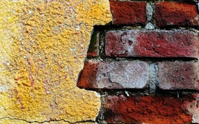 Picture wall, color, texture, bricks