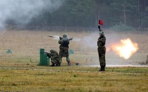 Wallpaper exercises, infantry, fire