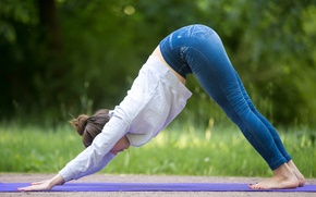 Picture jeans, pose, yoga