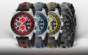 Picture red, black, yellow, blue, watch, Jack Pierre
