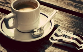 Picture coffee, Cup, saucer