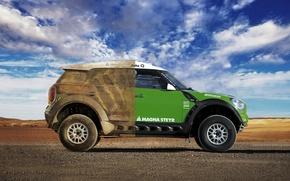 Picture The sky, Clouds, Auto, Sport, Machine, Day, Mini Cooper, Car, Rally, Dakar, Dakar, SUV, MINI, …