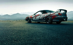 Picture Japan, Nissan, Car, Race, Skyline, Sport, R34, Rear, GTT