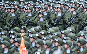 Picture weapons, holiday, victory day, soldiers, parade, red square, May 9