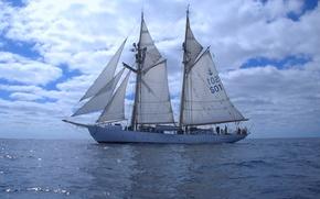 "Picture sea, ship, sailing, ""Kite"""