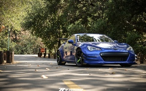 Wallpaper BRZ, blue, Subaru