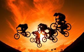 Picture background, sport, bikes