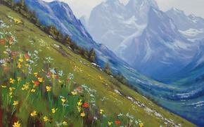 Picture ART, FIGURE, ARTSAUS, SPRING IN THE ROCKIES