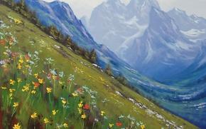 Wallpaper ART, FIGURE, ARTSAUS, SPRING IN THE ROCKIES